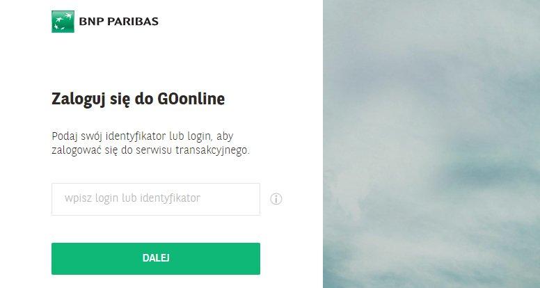 BGŻ BNP Paribas - logowanie do konta