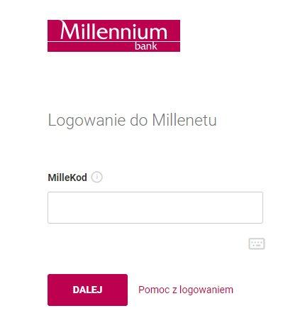 Millennium logowanie
