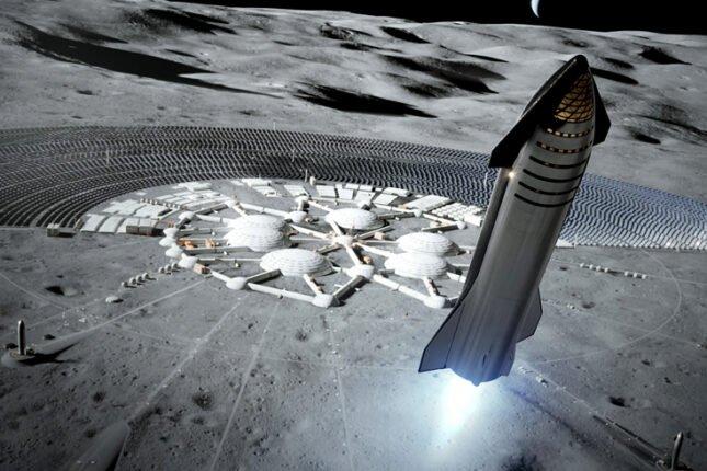SpaceX za kilka lat chce postawić człowieka na księżycu