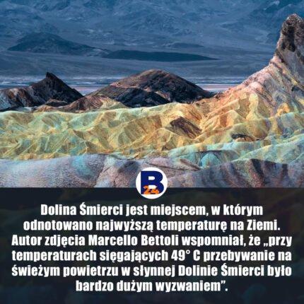 Dolina Śmierci - najwyższa temperatura na Ziemi / fot. Marcello Bettoli