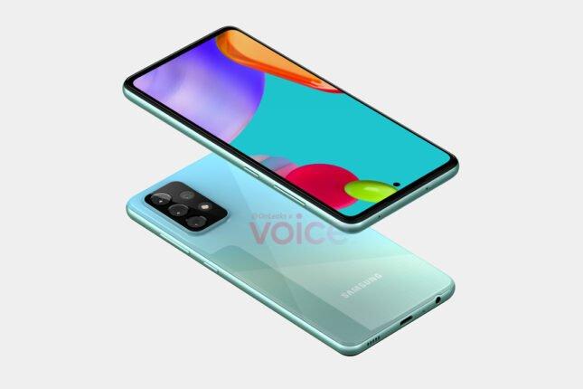 Samsung Galaxy A52 - wizualizacja / źródło: app.voice.com/profile/onleaks