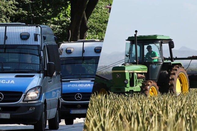 Strajk rolników w Warszawie. Mandaty oraz skierowania do sanepidu