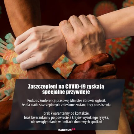 Zaszczepieni na COVID-19 zyskają specjalne przywileje. Podczas konferencji prasowej Minister Zdrowia ogłosił, że dla osób zaszczepionych zniesione zostaną trzy obostrzenia: brak kwarantanny po kontakcie, brak kwarantanny po powrocie z krajów wysokiego ryzyka, nie uwzględnianie w limitach domowych spotkań