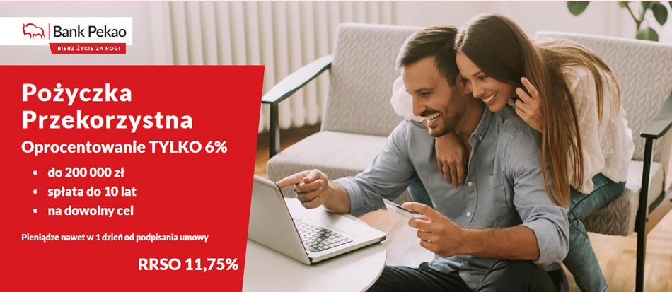 Kredyt gotówkowy Pekao - Pożyczka przekorzystna